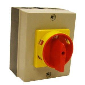 20 Amp 4 Pole PVC Boxed Isolator Switch