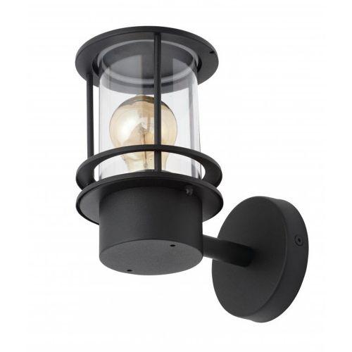 Leonis Miners Outdoor Wall Lantern Light, Black