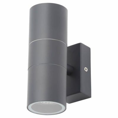 Leto Up & Down GU10 Wall Light, Anthracite by Meteor Electrical