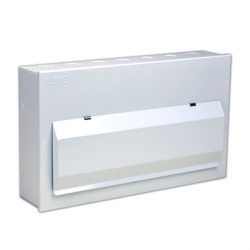 Live 18 Way Metal Clad Consumer Unit c/w 100A  Main Switch