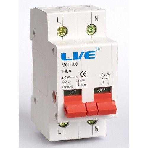 Live 2 Pole 100 Amp Main Switch Isolator