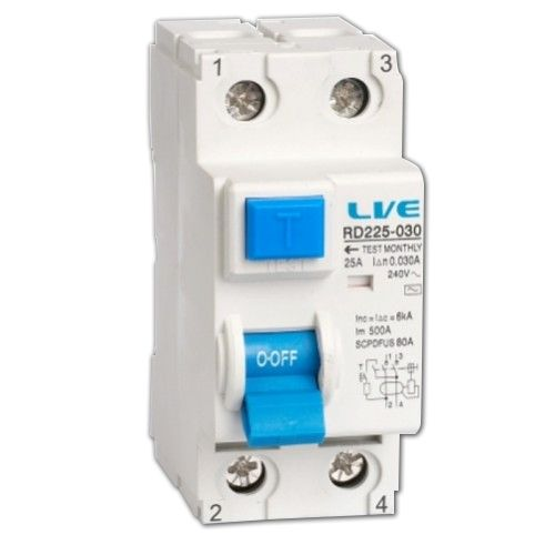 Live 2 Pole 80Amps 30mA RCD
