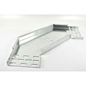 100mm Medium Duty Pre-Galv Cable Tray 90° Flat Bend