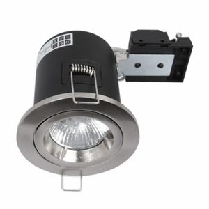 Fire Rated Twist & Lock GU10 Fixed Brushed Chrome Downlight