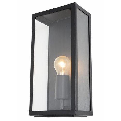 Minerva Black Stainless Steel Box Lantern by Meteor Electrical