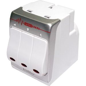 Masterplug Indoor Power MSWRG3-MS 3-Socket 13 amp Surge Protecte