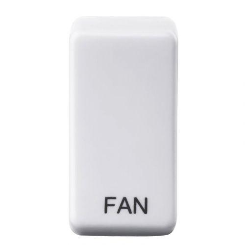Nexus Grid Rocker, Printed Fan, White