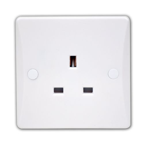 Pearl 13 Amp 1 Gang Socket-Unswitched