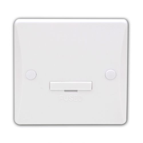 Pearl 13 Amp Fused Connection Unit, Unswitched
