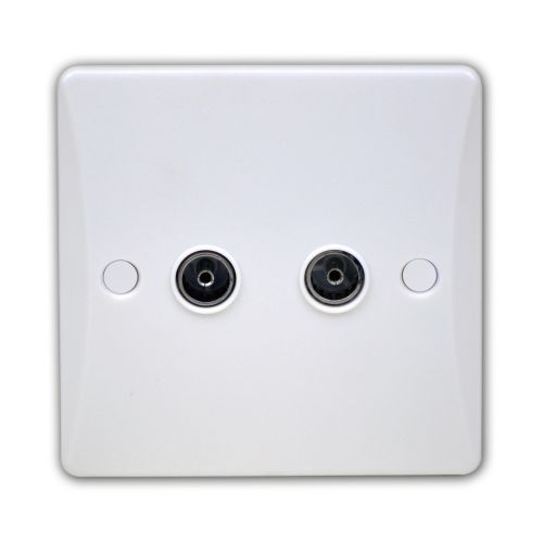 Pearl Double Co-axial Socket