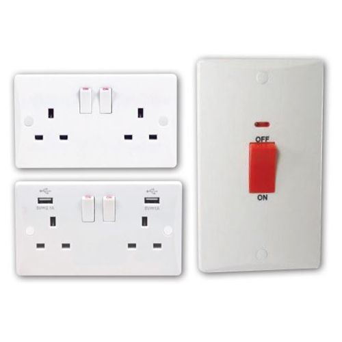 Pearl Slimline Switches and Sockets