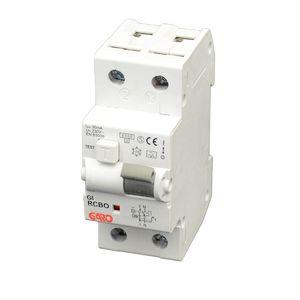 Garo 20 Amp RCBO, 2 Module, 2 Pole, Characteristic C 6kA Type A