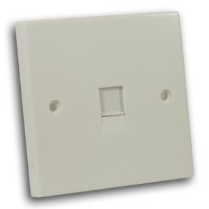 Single RJ45 Outlet Off White