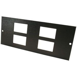 Tass 4 Gang RJ45 Plate (STO302)