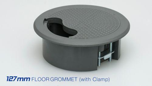 Tass 127mm Plastic Access Grommet c/w Clamp (Grey)