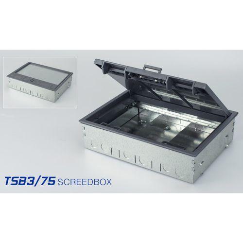 Tass 3 Compartment Screed Box, 75mm