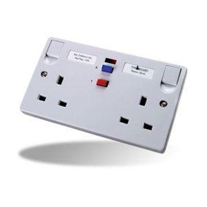 RCD Double White Socket - TFA05W