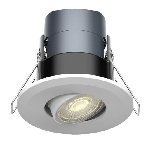 Tilted Mauna 6W Dimmable, CCT, LED Downlight by Meteor Electrical