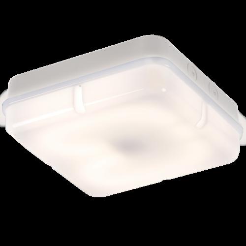 28 Watt Square Bulkhead Opal Diffuser White Base IP65