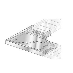 150mm Medium Duty Pre-Galv Cable Tray 90° Flat Bend