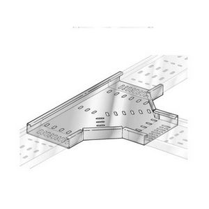 150mm Medium Duty Pre-Galv Cable Tray 90° Flat Tee