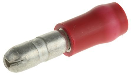 Unicrimp QRAB4M Red 4.0mm Male Bullet Connector (Pack Of 100)