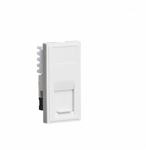 White Modular UTP CAT5E RJ45 Outlet