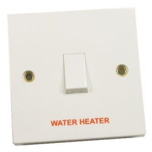 20 Amp 1 Gang DP Switch Marked Water Heater