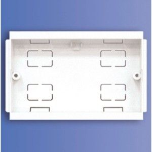 2 Gang Socket Box For Dado Trunking (DP 2 SB)