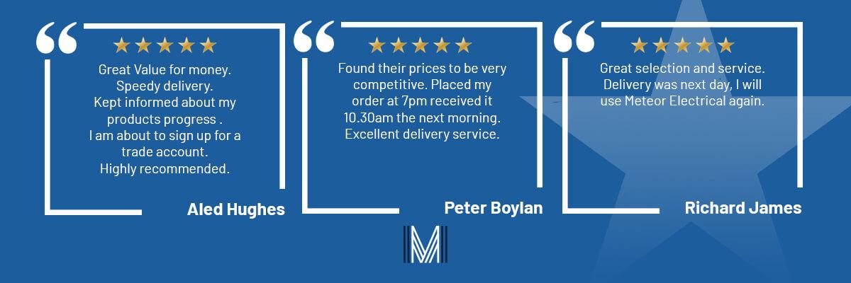 Meteor Electrical Customer Reviews Electrical Wholesaler