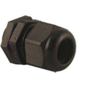 20mm PG Gland Black IP68 c/w Locknut