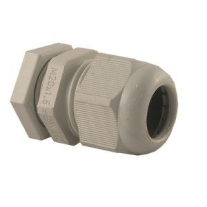 20mm PG Gland Grey IP68 c/w Locknut