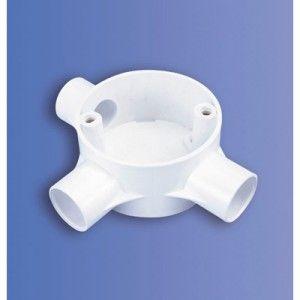 25mm PVC Tee Box (DJE3 WH)