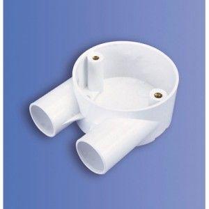 25mm U Shape PVC Box (DJU3 WH)