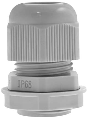 25mm Grey Cable Gland IP68 10 Pack
