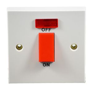 45 Amp 1 Gang DP Cooker Switch With Neon