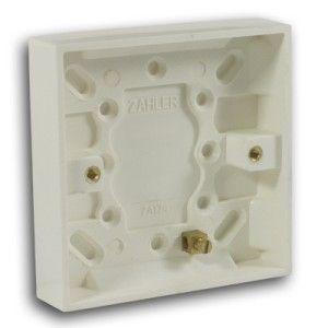 47mm 1 Gang Pattress Box Off White