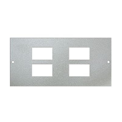 4 Gang RJ45/LJ6C Plate Galvanised Floor Box