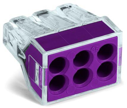 6-conductor terminal block (6x0.75-2.5mm, 24A) 10 Pk