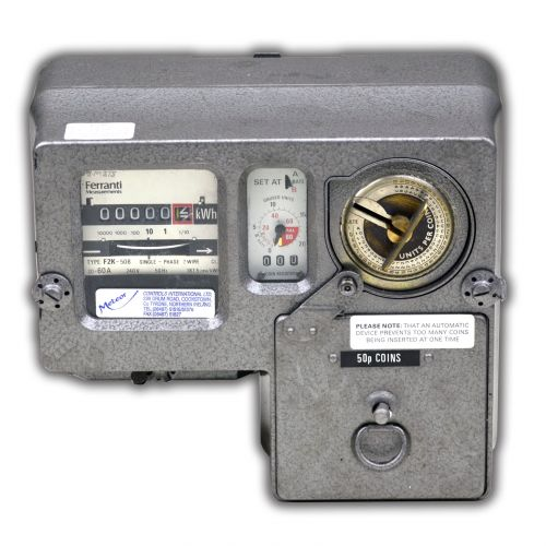 60A 50p Coins Slot Meter