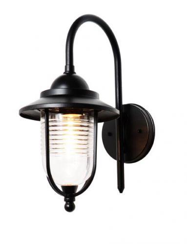 60W Eris Black Fishermans Style Wall Lantern