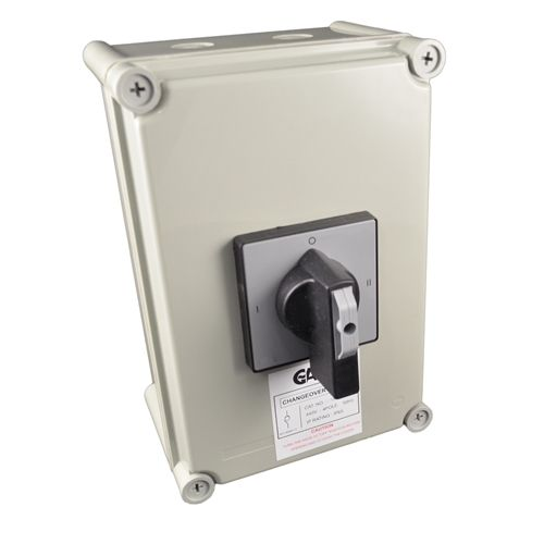63 Amp 3 Pole & Neutral Changeover Switch IP65