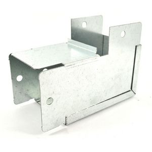 75x75mm Galvanised Trunking 90° External Elbow Bend