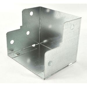 100x50mm Galvanised Trunking 90° Internal Elbow Bend