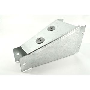 100x100mm To 75x75mm Galvanised Trunking Reducer