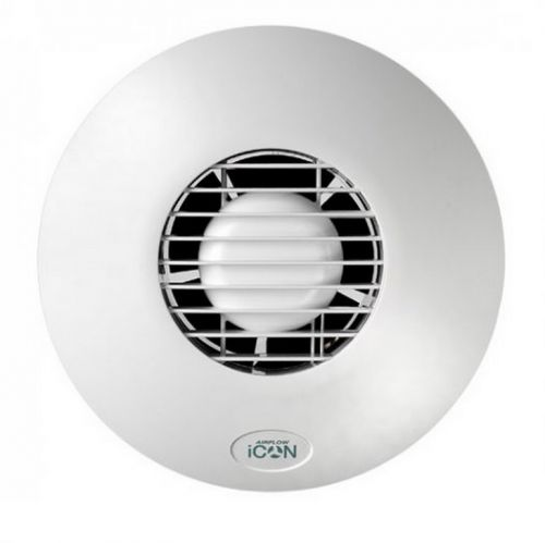Airflow iCON eco 15 White Extractor Fan Mains 100mm