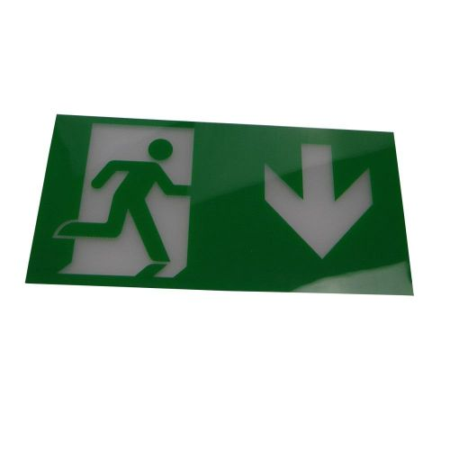 Arrow Down Legend for Wall or Ceiling Mount Exit Sign