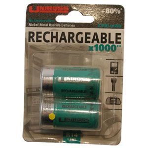 C Type (2 Pack) Rechargeable Battery