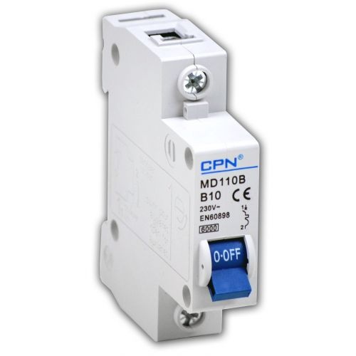Cudis 10 Amp 6kA Single Pole (Type B) MCB