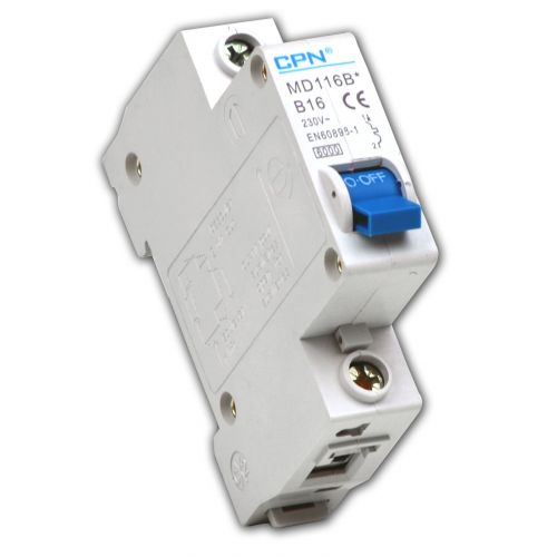 Cudis 16 Amp 6kA Single Pole (Type B) MCB